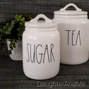 "NWT HTF Large Letters Rae ""SUGAR"" Small Canister"